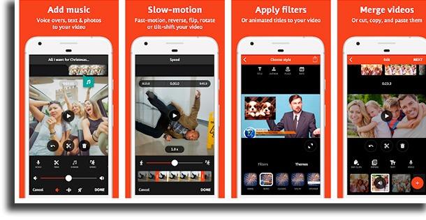 telas do aplicativo de challenge videoshop