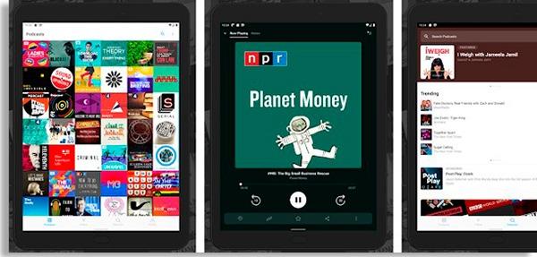 telas do pocket cast, umdos melhores aplicativos de podcasts disponíveis