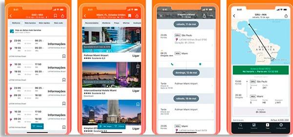 tela do kayak, um dos apps de voos da lista