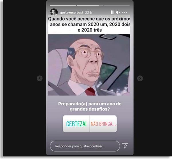 tela de stories com enquetes de instagram do gustavo cerbasi