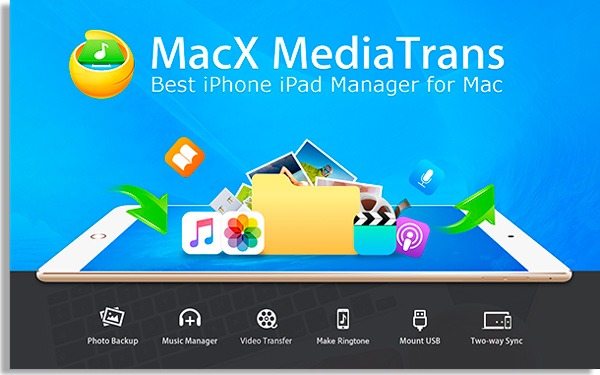 macx media trans software para fazer backup do iphone