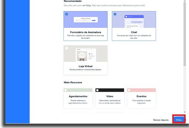 fazer um site grátis recursos