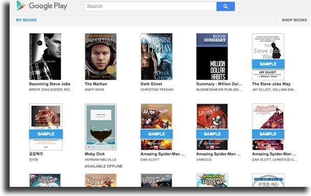Google Play Books download free PDF books