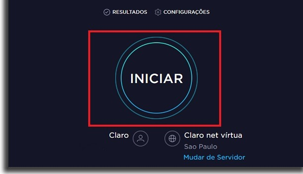 como usar o speedtest