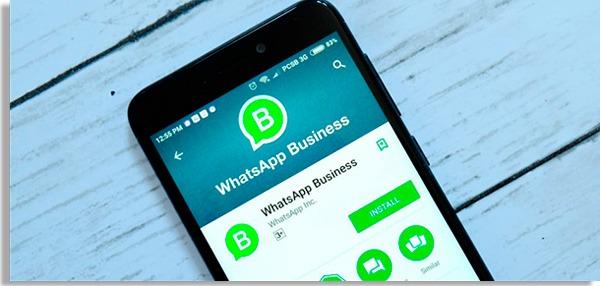 tela de download do whatsapp empresarial
