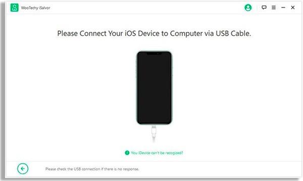 tela mostrando que deve conectar seu iphone ao computador