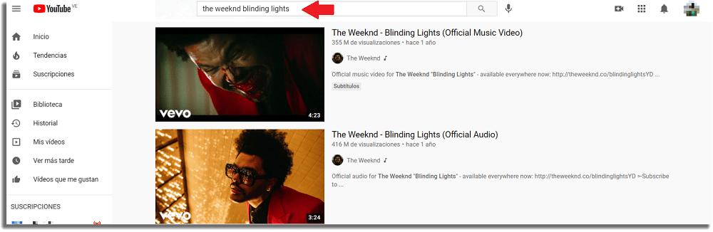Buscar canción Descargar música de YouTube a una memoria USB