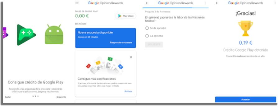 Google Opinion Rewards apps para ganar dinero