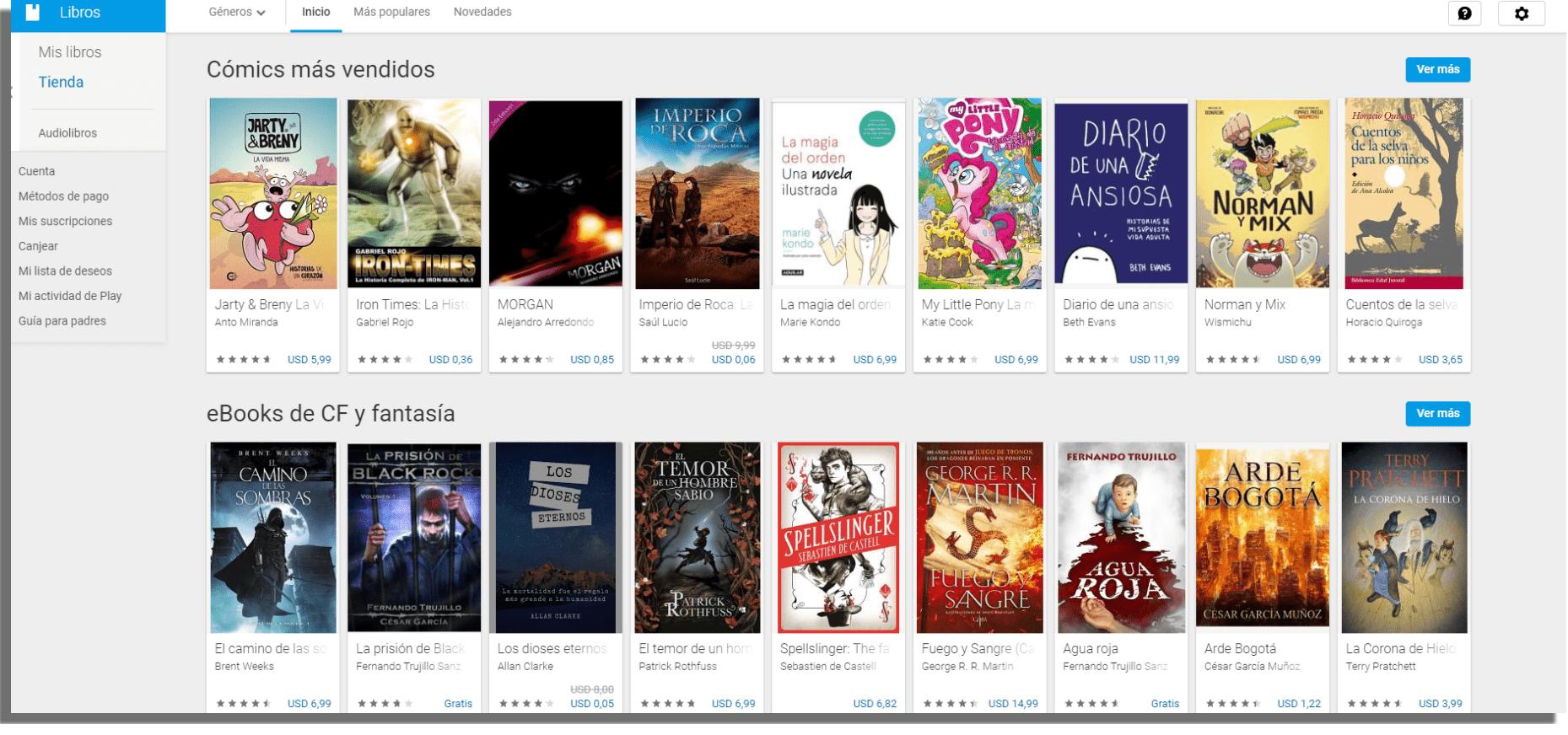 Google Play Libros Descargar libros electrónicos gratis