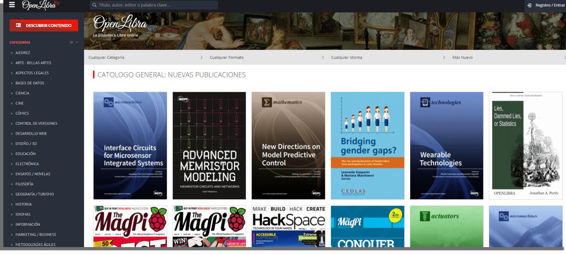 OpenLibra Descargar libros electrónicos gratis