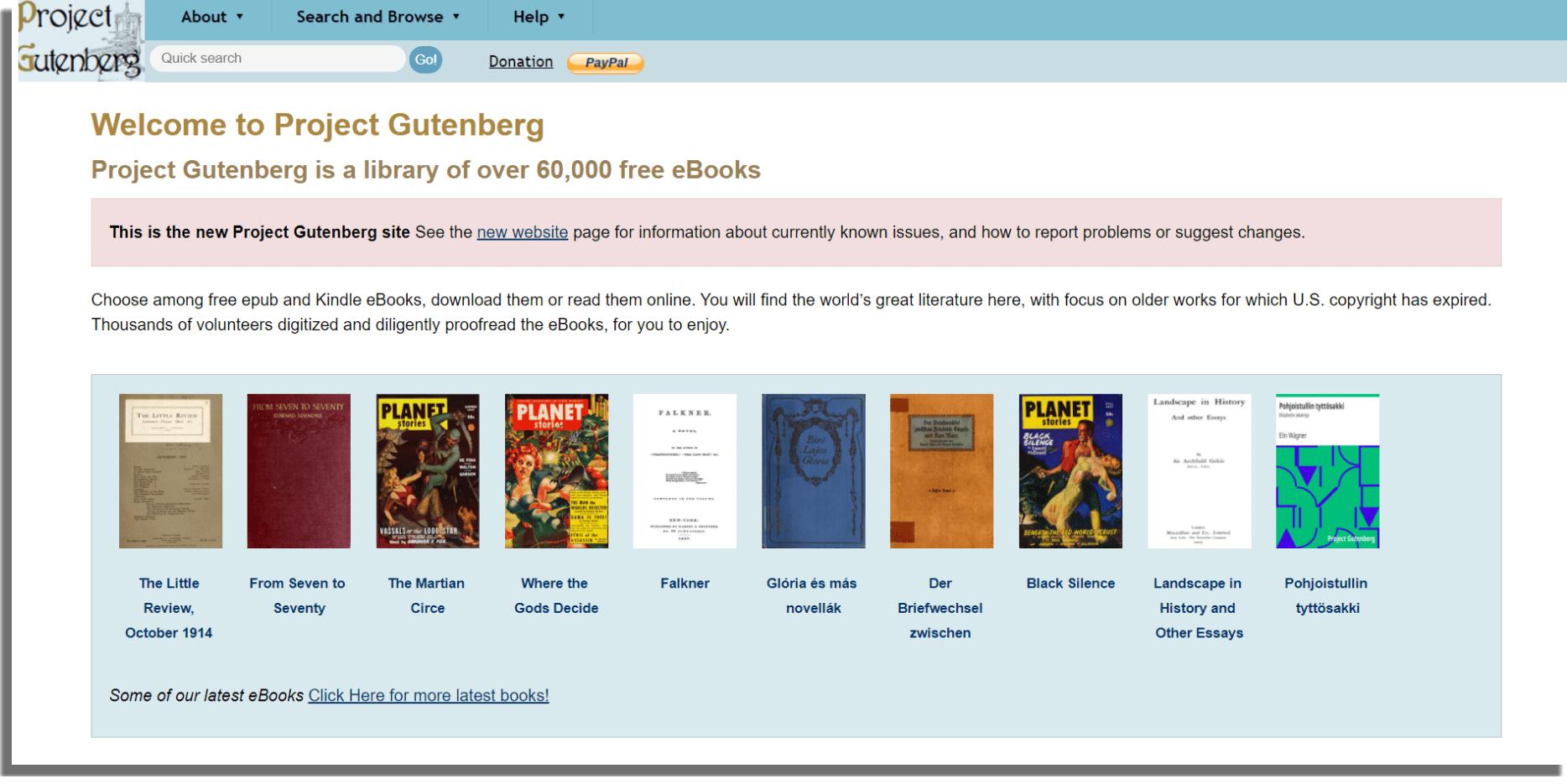 Proyecto Gutenberg ebooks