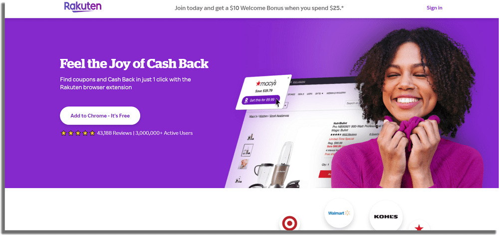 Rakuten Aplicaciones de cashback