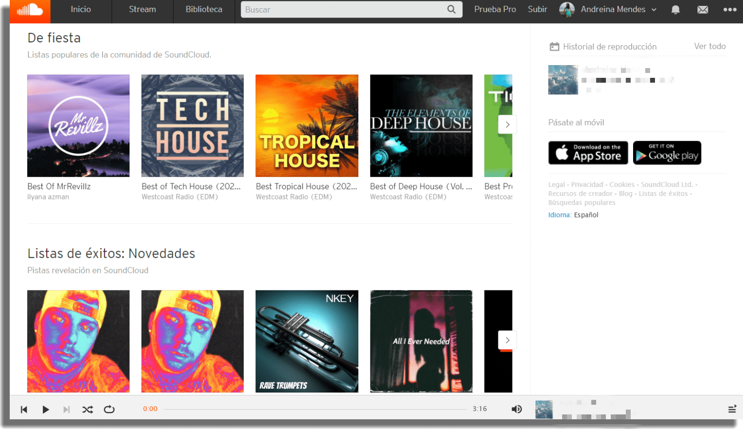 SoundCloud Descargar música a un pendrive