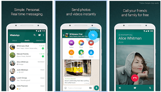 WhatsApp store page. This app seems simple, but it can deplete the battery of your phone