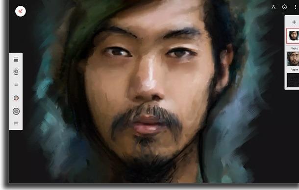 desenhar no infinite painter