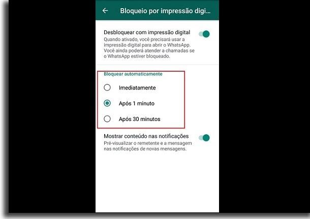 tempo de bloqueio por impressão digital no controle dos pais de whatsapp