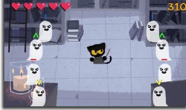 Halloween Cat Google Doodle games