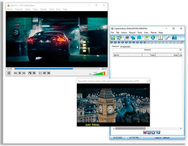 tela do capture boss, app para gravar a tela do pc