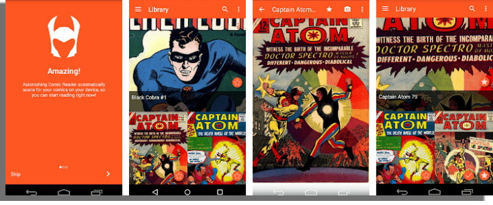 Astonishing Comic Reader aplicaciones para leer cómics online