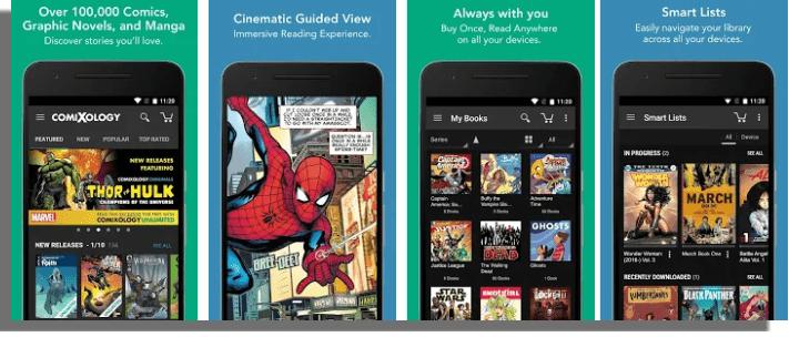 Comics by ComiXology aplicaciones para leer cómics online