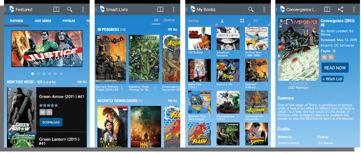 DC Comics aplicaciones para leer cómics online