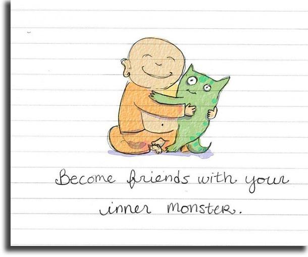 Monster friendship WhatsApp motivational status