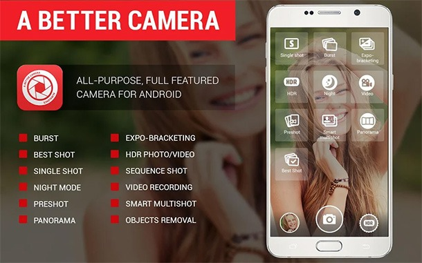 A Better Camera best selfie apps for Android