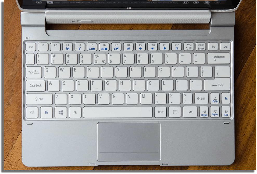 teclado comandos