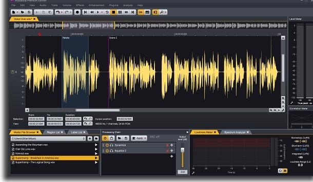 editor de áudio acoustica