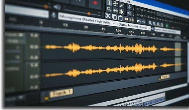 editor de áudio audacity