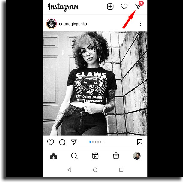 Instagram home send disappearing messages on Instagram