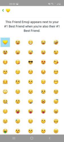 The emoji list