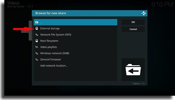 External storage use Kodi on Android