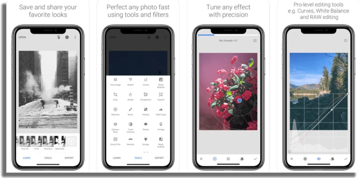 Snapseed añadir texto a las imágenes