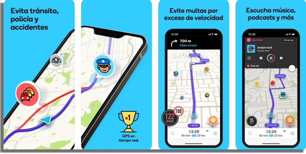 Waze aplicaciones para detectar radares de tráfico