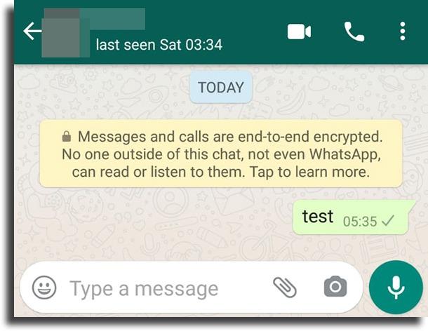 one grey tick blocked on WhatsApp