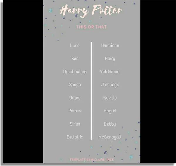 Harry Potter fun WhatsApp games