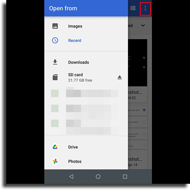 three-dot button remove image background