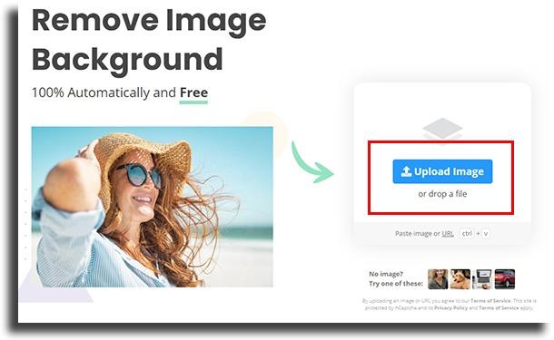 upload image remove image background