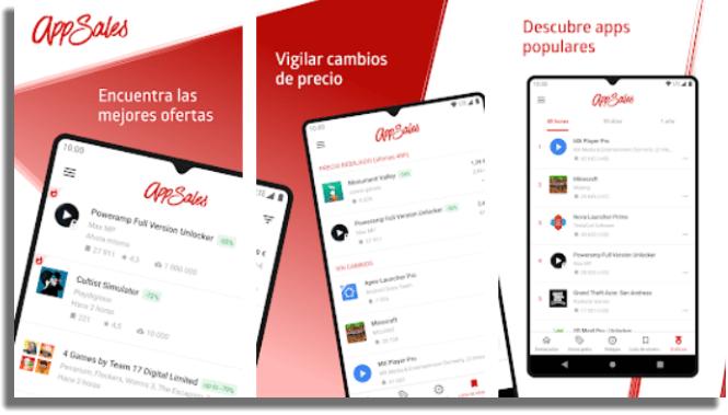 AppSales descargar aplicaciones de pago gratis