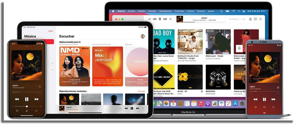 Apple Music alternativas a Spotify