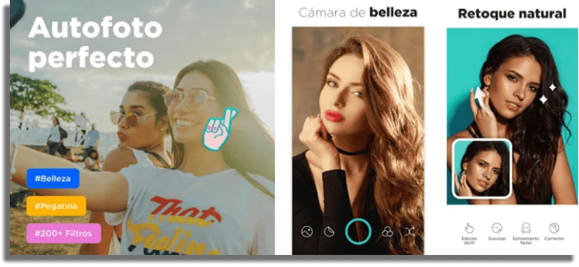 Candy Camera apps para tomar selfies en Android