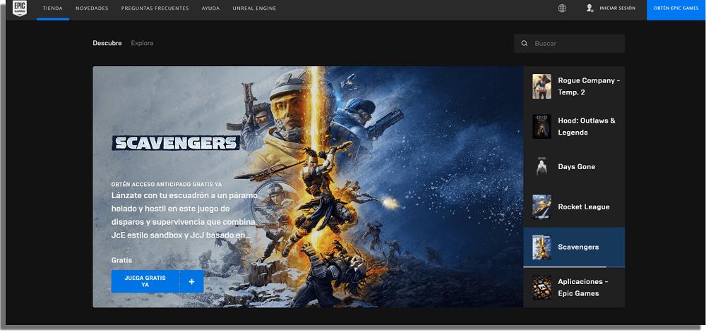 Epic Games Store alternativas a Steam