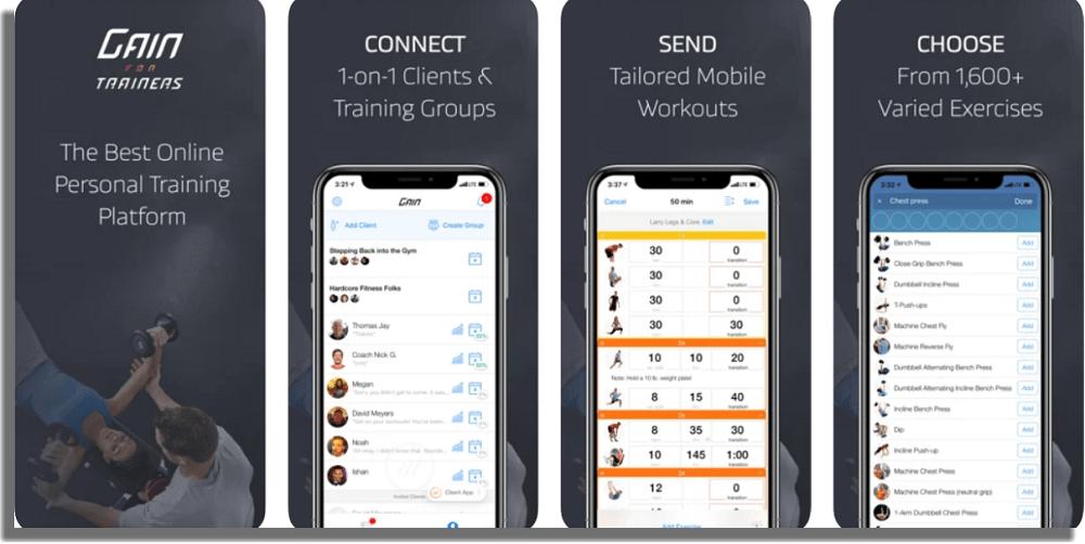 Gain Fitness aplicaciones de fitness