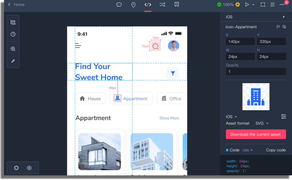 MockPlus crear sitios web