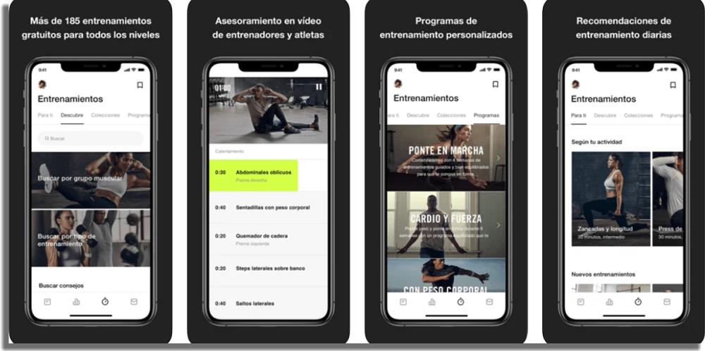 Nike Training Club aplicaciones de fitness