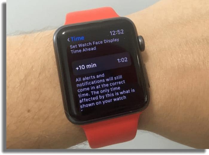 adelantar las horas apple watch