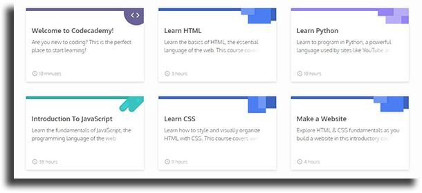 codecademy best online programming courses