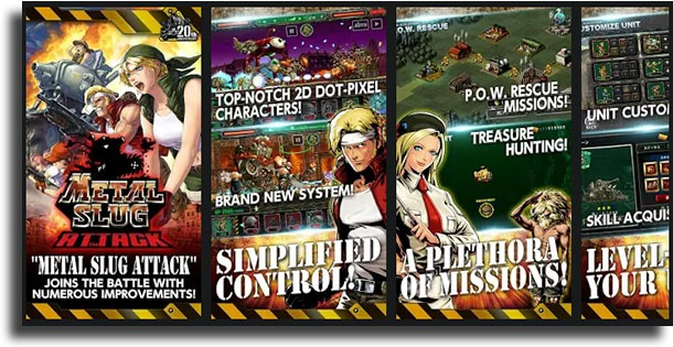 Metal Slug Attack classic games on Android