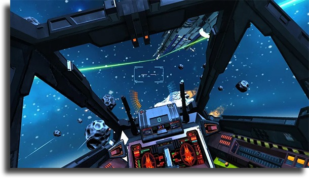 Minos Starfighter VR best VR games for Android